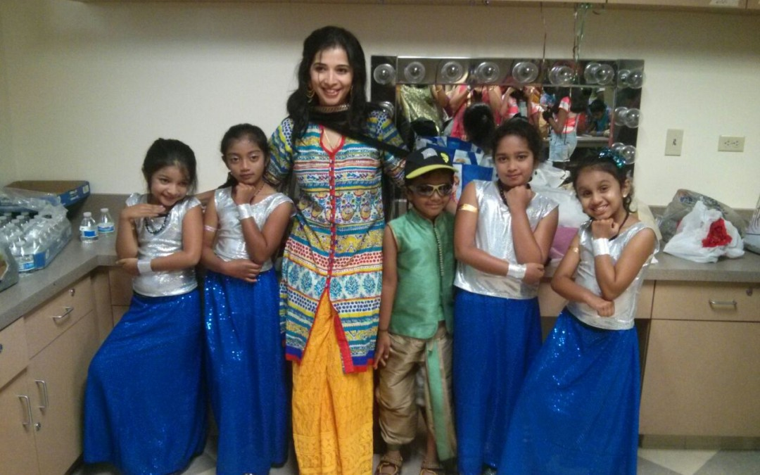 Kids performing at the Telegu Ugadi